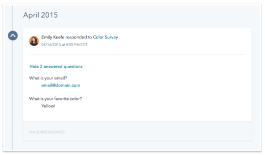 SurveyMonkey HubSpot Integration