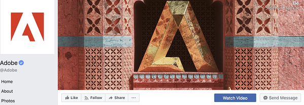 Example from Adobe Facebook page