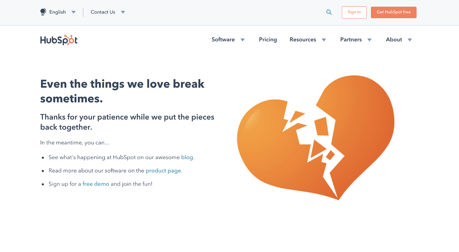 HubSpot 404 error page