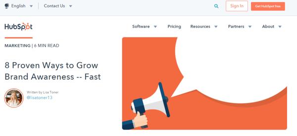HubSpot Blog screenshot