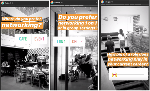 HubSpot Instagram Stories example