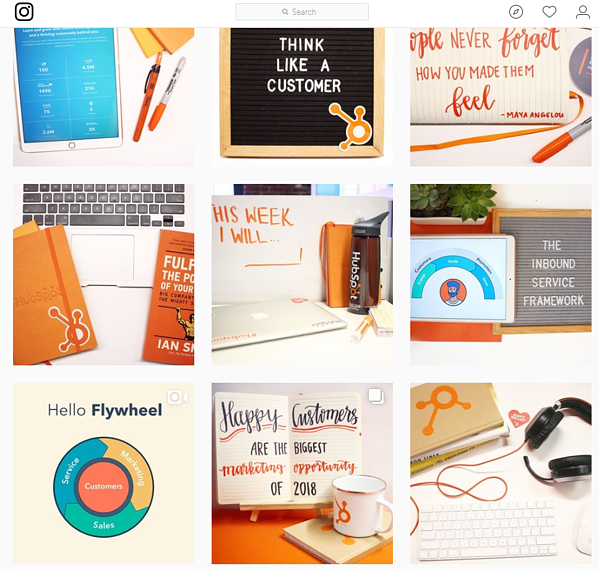 HubSpot Instagram feed screenshot