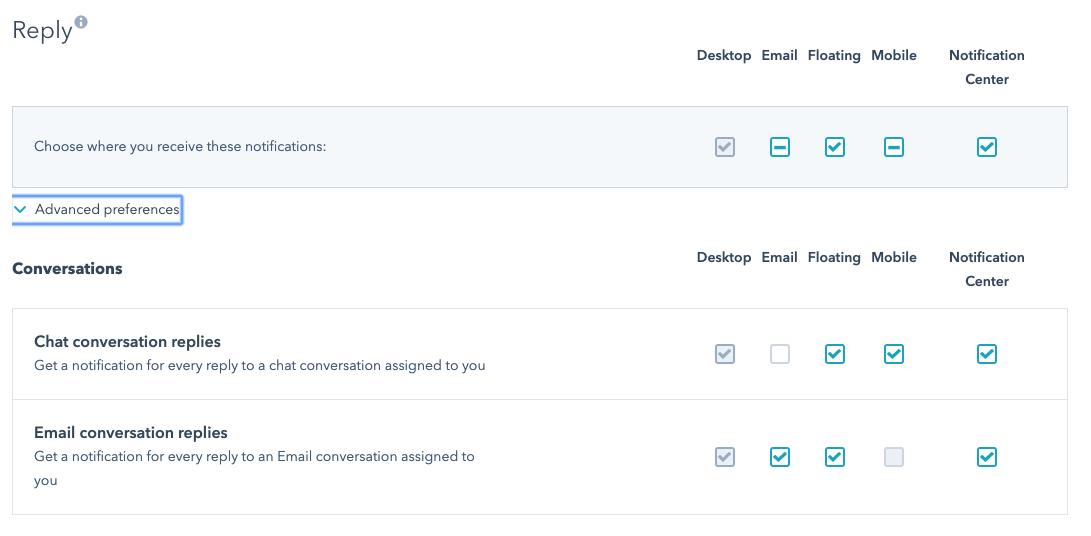 HubSpot chat - replying