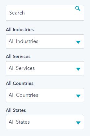 HubSpot partner agency directory filter example