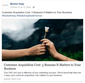 example social media post