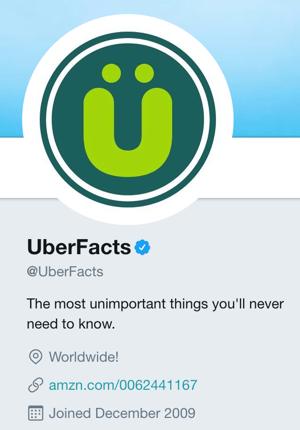 UberFacts Twitter logo