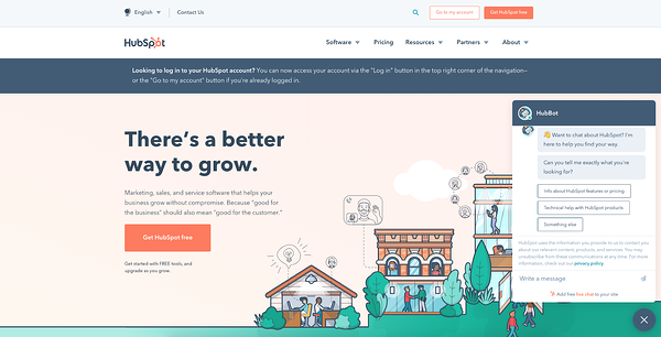 live chat window design - hubspot