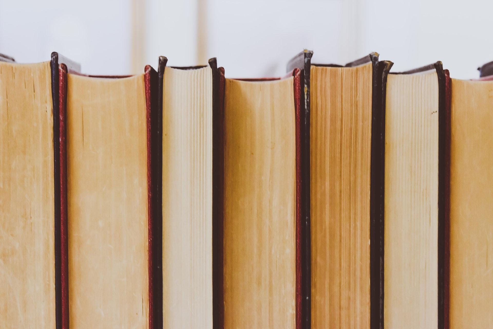 books organized on bookshelves