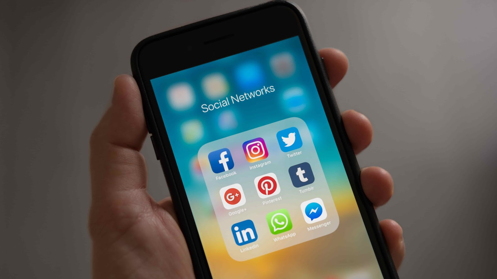 social media apps on an iPhone screen